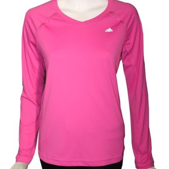 good texture authentic official shop adidas Tops   Bright Pink Long Sleeve Top   Poshmark